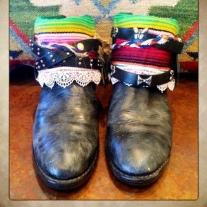 serape embellished cowgirl booties 7M